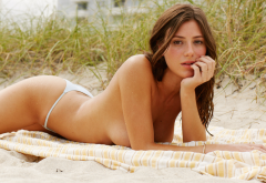 Alejandra Guilmant Wet Topless Panties Brunette Boobs Tits Wallpaper