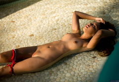 Alexis Love Brunette Long Hair Wet Tits Nipples Shaved Pussy Panties Outdoors Pussy Boobs Pool Big Tits Wallpaper