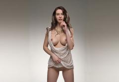 Alisa I Alisa Amore Jessica Albanka Inez Fulitko Model Brunette Boobs Big Tits Nipples Shaved Pussy Pussy Dress Wallpaper