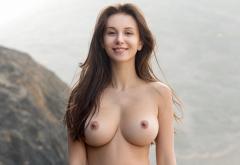 Alisa I Jessica Albanka Alisa Amore Alisa Perfect Hot Boobs Big Tits Brunette Rocks Sexy Smiling Wallpaper