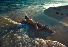Wet Beach Sea Tanned Ass Legs Sexy Hot Wallpaper