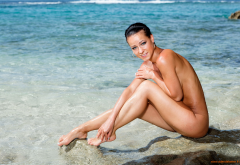 Wet Melisa Mendiny Sexy Hot Adult Model Pornstar Naked Nude Legs Buttocks Sea Beach Wallpaper