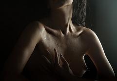 Wet Tits Boobs Nipples Dark Wallpaper
